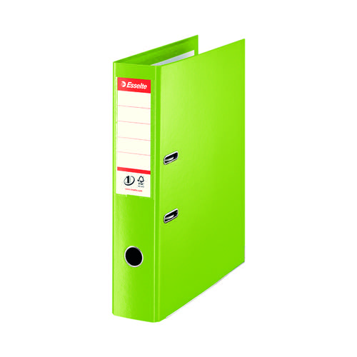 Esselte Lever Arch File Foolscap 75mm Polypropylene Green (Pack of 10) 48086
