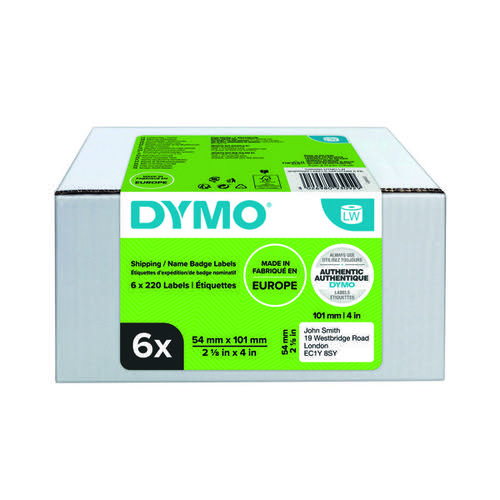 Dymo Label Writer Shipping Labels 54mm x 101mm