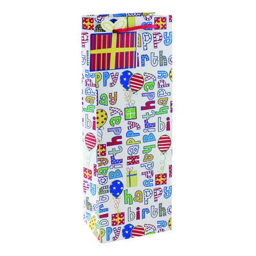 Happy Birthday Bottle Bag (Pack of 6) 26955-4