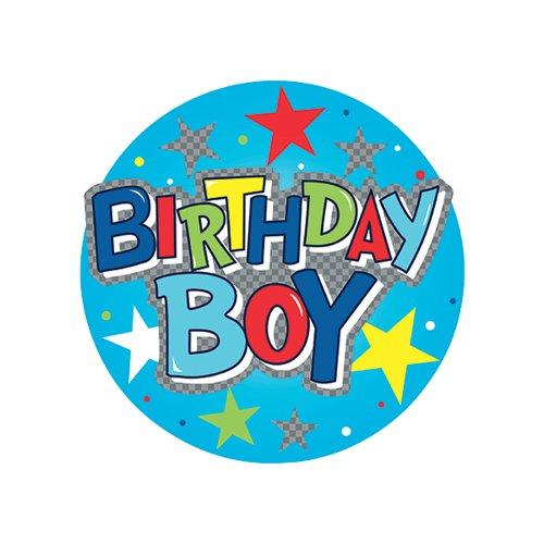 Birthday Boy Giant Badge (Pack of 6) 24780-BB