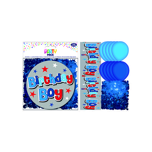 Birthday Boy Party Pack Blue (Pack of 6) 13707-PP
