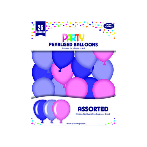 Party Balloons Pink/Purple (Pack of 6) 12924-P-1