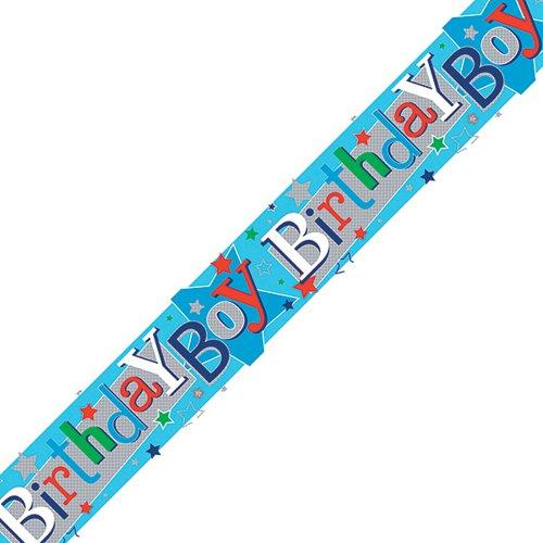 Birthday Boy Banner Blue (Pack of 6) 6837-HBB-3
