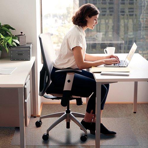 Cleartex Chair Mat Hard Floor 1200x750mm Clear FL74191