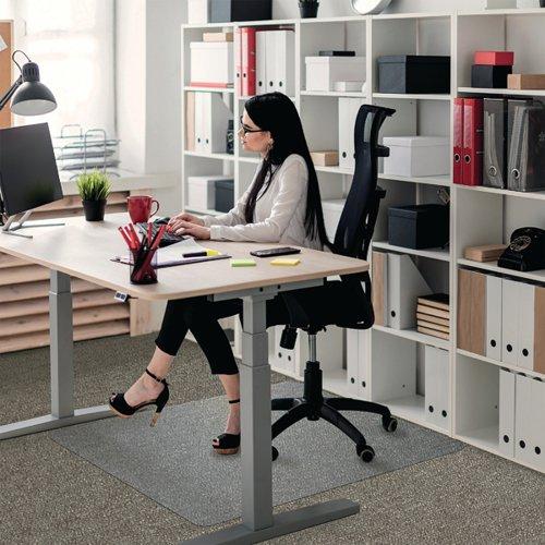 Floortex Polycarbonate Rectangle Carpet Chair Mat 1190x890mm 118923ER
