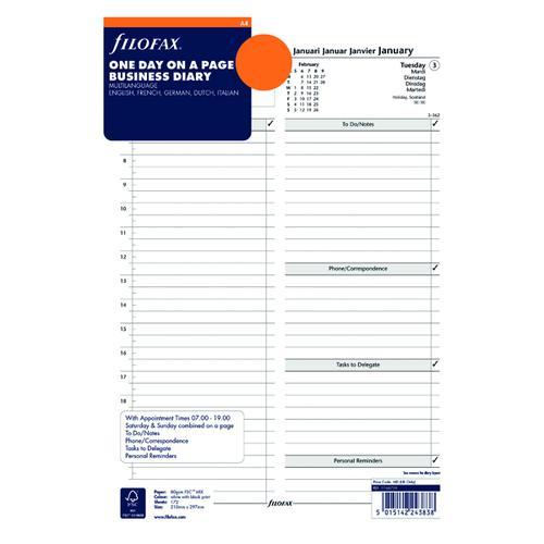 Filofax Refill Day Per Page A4 2021 21-68719