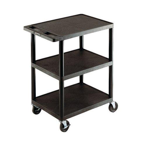 GPC 3 Shelf Service Trolley Black GI341L