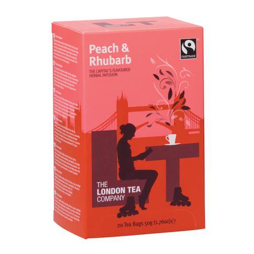 London Tea Peach and Rhubarb Tea (Pack of 20) FLT19155