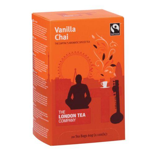 20 x London Tea Vanilla Chai Tea (Blended with spices and rich, creamy vanilla) FLT19149
