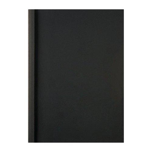 GBC A4 Thermal Binding Covers 1.5mm Leathergrain Black PK100