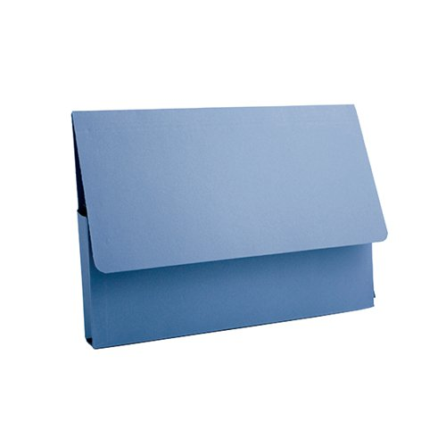 Guildhall A4 Document Wallet 285gsm Blue (Pack of 50) PDW4-BLUZ