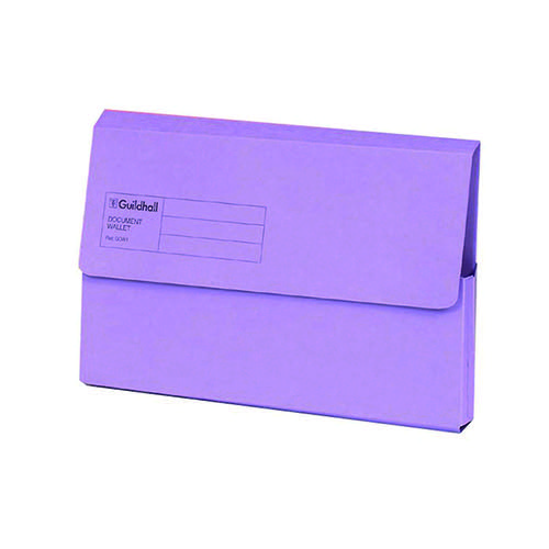 GUILDHALL VIOLET DOCUMENT WALLET PK50