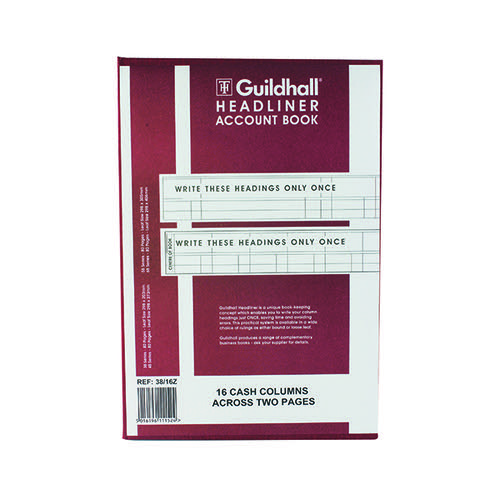 Guildhall Headliner 16 Column Account Book 38/16 1152