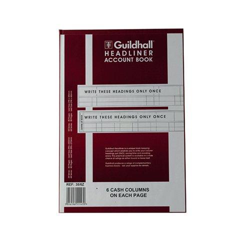 Guildhall Headliner 6 Cash Column Account Book 38/6 1147