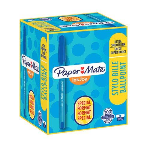 PaperMate InkJoy 100 Ballpoint Pen Medium Blue (Pack of 100) S0977420