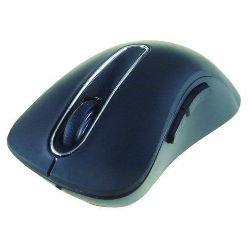 Computer Gear Wireless 5-Button Optical Scroll Mouse Black 24-0544