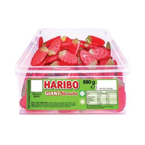 Haribo Giant Strawberries Tub 120
