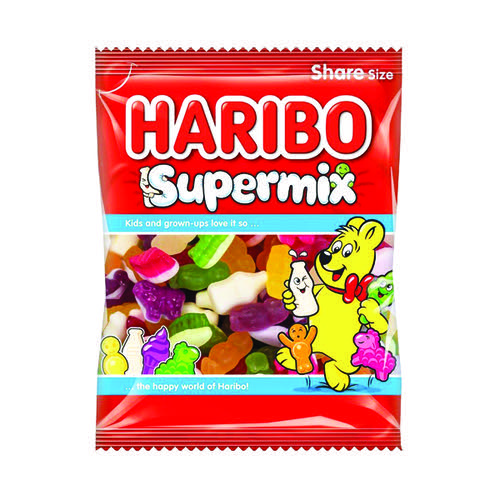 Haribo Supermix Share Size Bag 140g (Pack of 12) 727730