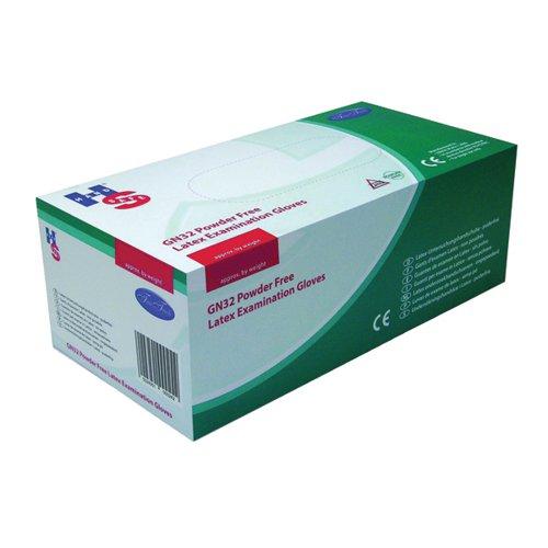 Handsafe Powder-Free Natural Medium Latex Gloves (Pack of 100) GN32