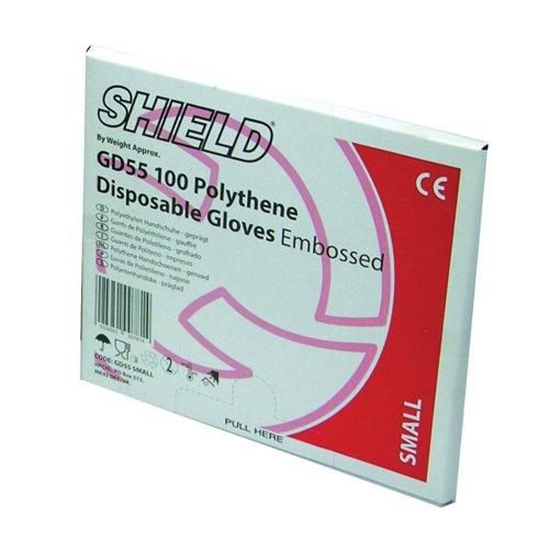 Shield Embossed Gloves Large Pk100 Gd55