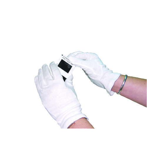 HPC Knitted Cotton Gloves Medium White Pk 10 GI/NCWO