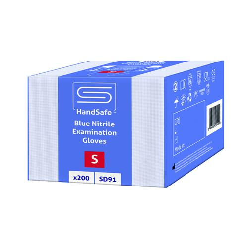SafeDon Small Nitrile Gloves Blue (Pack of 200) SD91/S