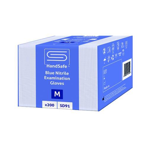 SafeDon Medium Nitrile Gloves Blue (Pack of 200) SD91/M