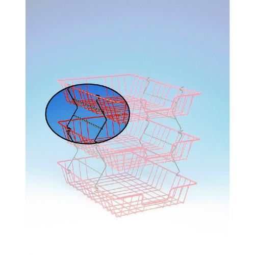 Black Wire Filing Tray Risers 777 Pk2