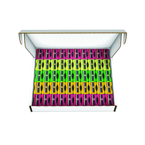 Plastic Pencil Sharpeners Assorted (Pack of 100) 794300