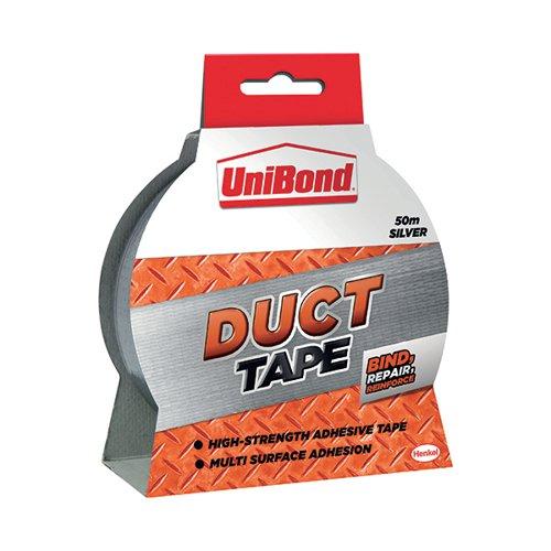 Unibond Duct Tape 50mmx50m Silver 1405197