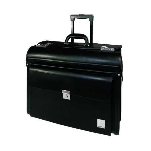 Monolith Leather Look Rolling Pilot Case PVC Black 2179