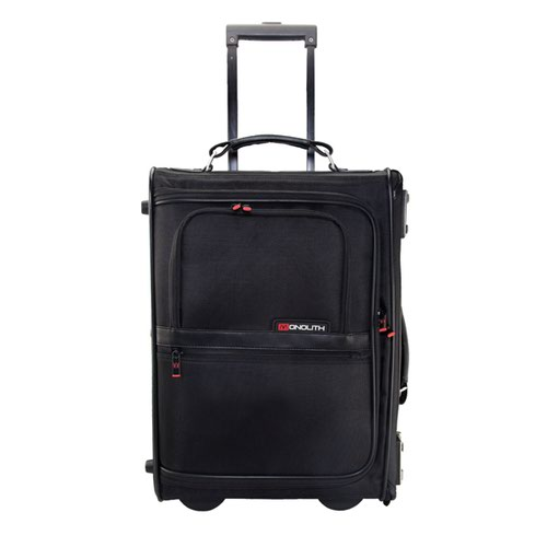 Monolith Nylon Wheeled Pilot Case W470 x D205 x H330mm Black 2383