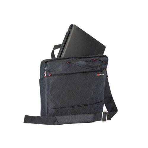 Monolith Slim 15.6 inch Laptop Case with Lockable Zips Black 3201