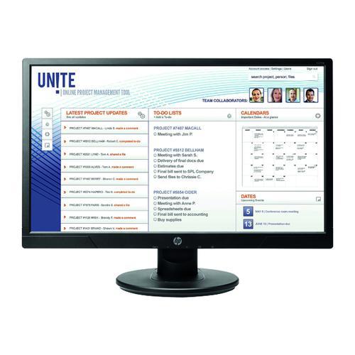 HP V214a Full HD Flat LED Display 20.7 Inch Black 1FR84AT#ABU