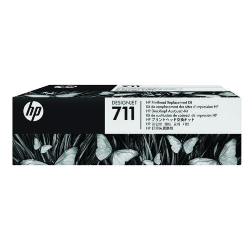 HP C1Q10A 711 CMYK Printhead 4x 12ml Multipack