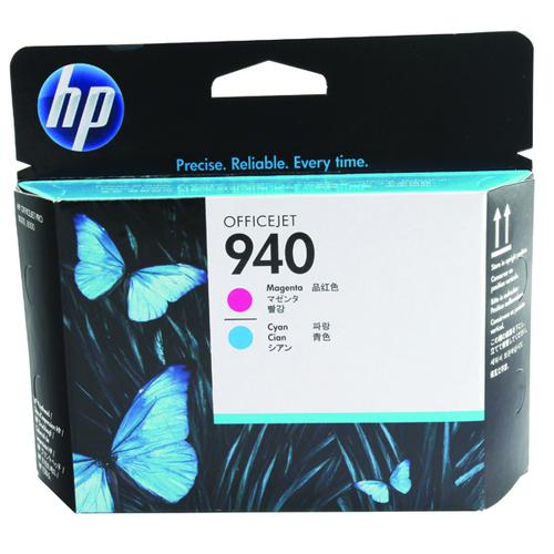 HP C4901A 940 Cyan Magenta Printhead