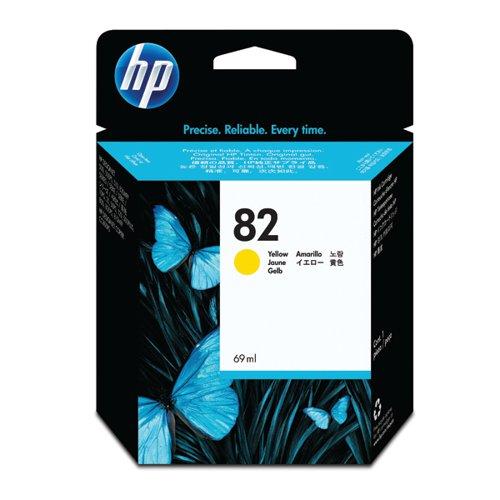 HP 82 Yellow Inkjet Cartridge (High Yield, 69ml) C4913A
