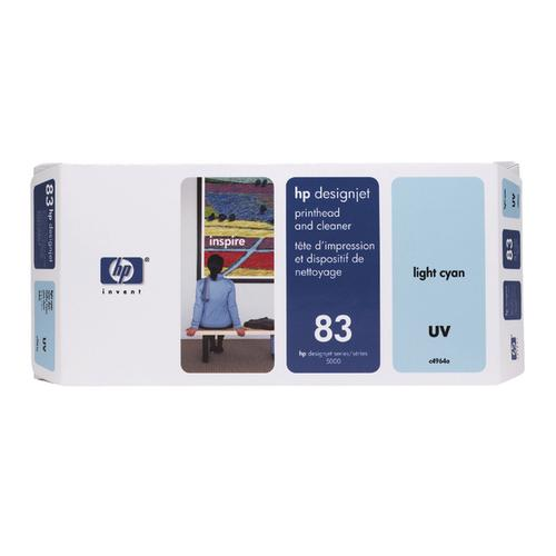 HP 83 Light Cyan UV Printhead and Cleaner (Capacity: 1000 pages) C4964A
