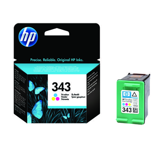 HP 343 Cyan/Magenta/Yellow Inkjet Cartridge C8766EE