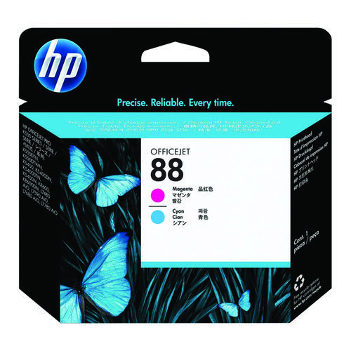 HP 88 Magenta/Cyan Printhead (For the HP OfficeJet Pro K550) C9382A