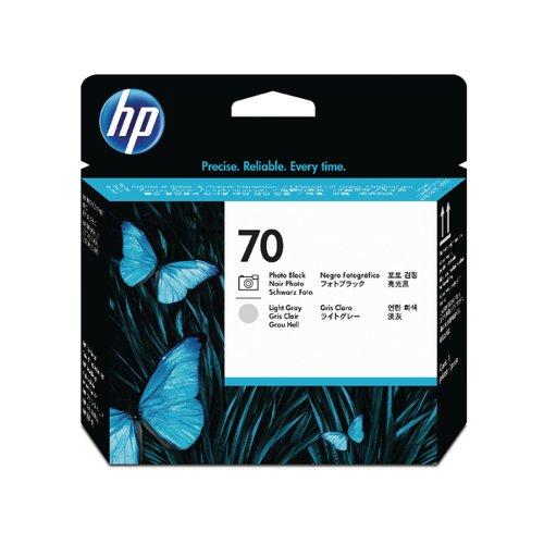 HP 70 Photo Black/Light Grey Printhead (Pack of 2) C9407A