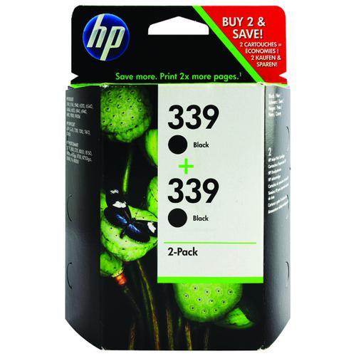 HP 339 Black Inkjet Cartridge (Pack of 2) C9504EE
