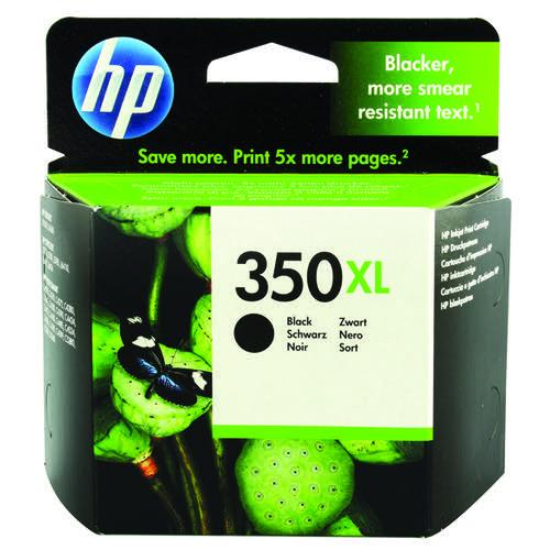 HP 350XL High Yield Black Inkjet Cartridge CB336EE