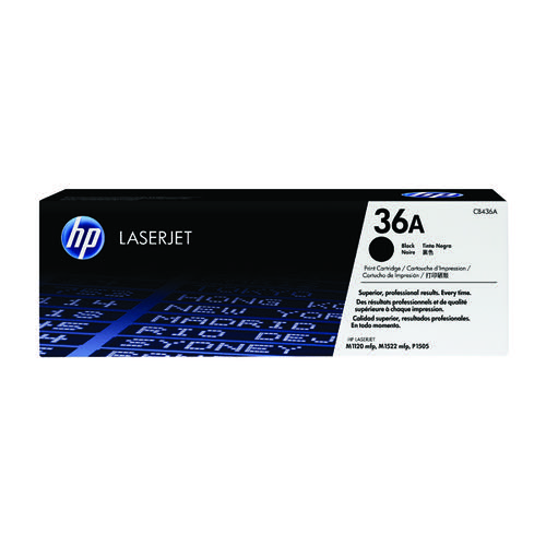 HP 36A Black Laserjet Toner Cartridge CB436A