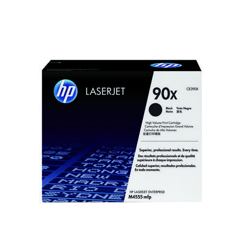 HP 90X Black High Yield Laserjet Toner Cartridge (Pack of 2) CE390XD