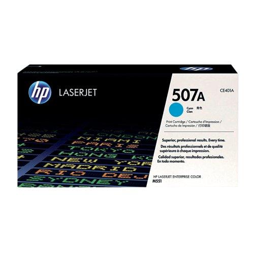 HP 507A Cyan Laserjet Toner Cartridge CE401A