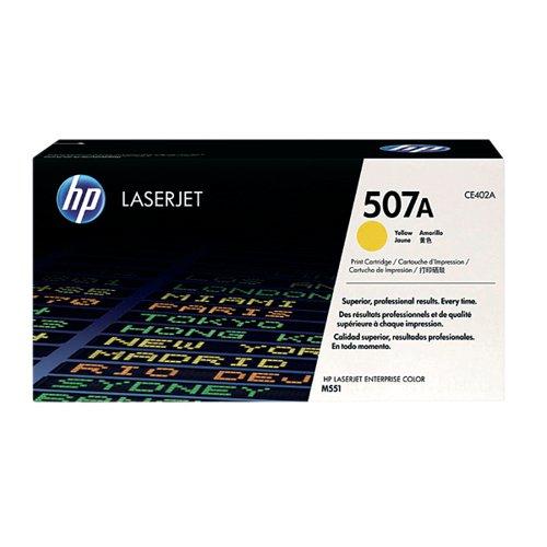 HP 507A Yellow Laserjet Toner Cartridge CE402A