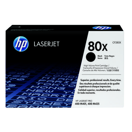HP 80X Black High Yield Laserjet Toner Cartridge CF280X