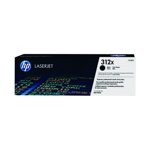 HP 312X Black High Yield Laserjet Toner Cartridge CF380X