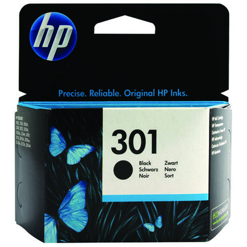 HP 301 Black Ink Cartridge (Standard Yield, 3ml, 190 Page Capacity) CH561EE